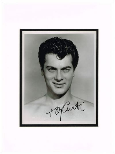 Tony Curtis Autograph Signed Photo For Sale